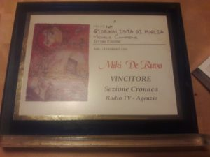 Premio GIORNALISTA di PUGLIA Michele Campione